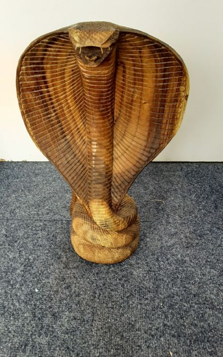 Hand carved Large Cobra